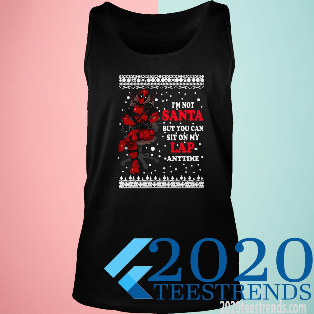 Deadpool I'm Not Santa But You Can Sit On My Lap Anytime Christmas Tanktop