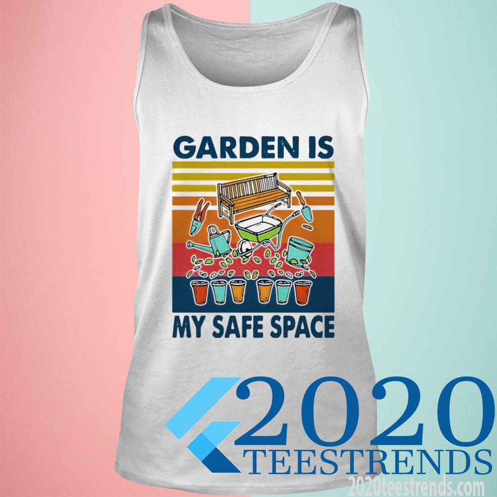 Official Garden Is My Safe Space Vintage Tanktop